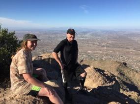Phoenix far below